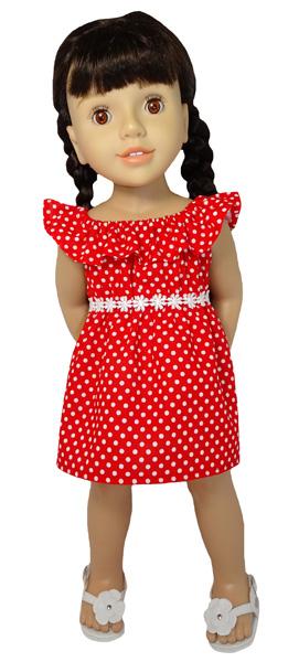 Australian Girl Frill dress doll clothes pattern