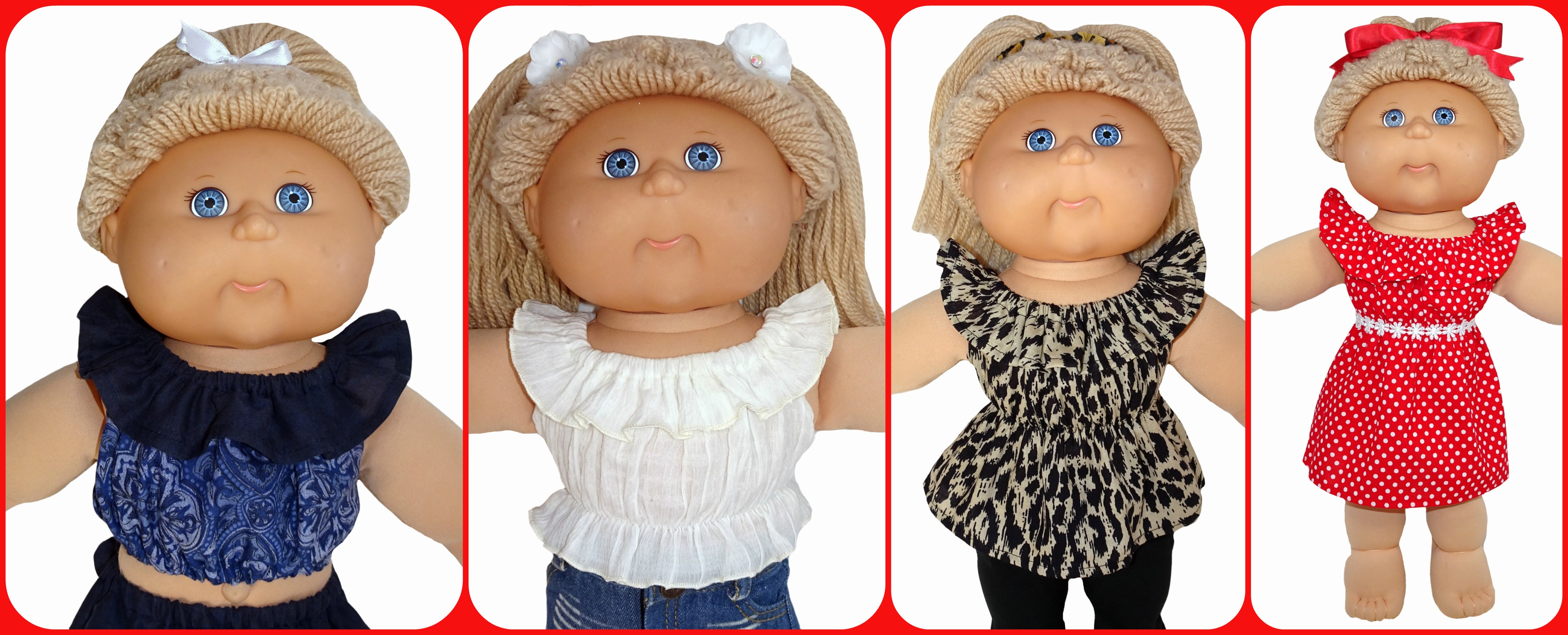 Cabbage Patch Kids Fun and Frilly Top with bonus dress option