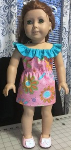 Karen fun n frilly dress pattern blue frill