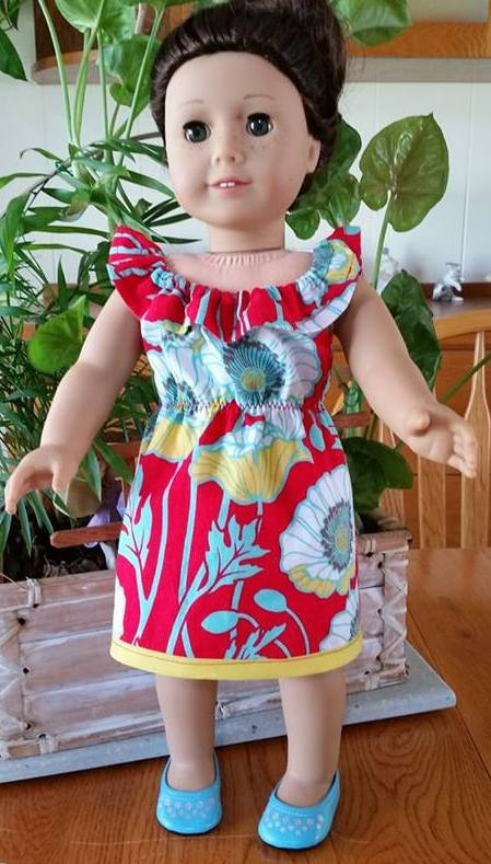 Laurie fun n frilly dress pattern with yellow trim