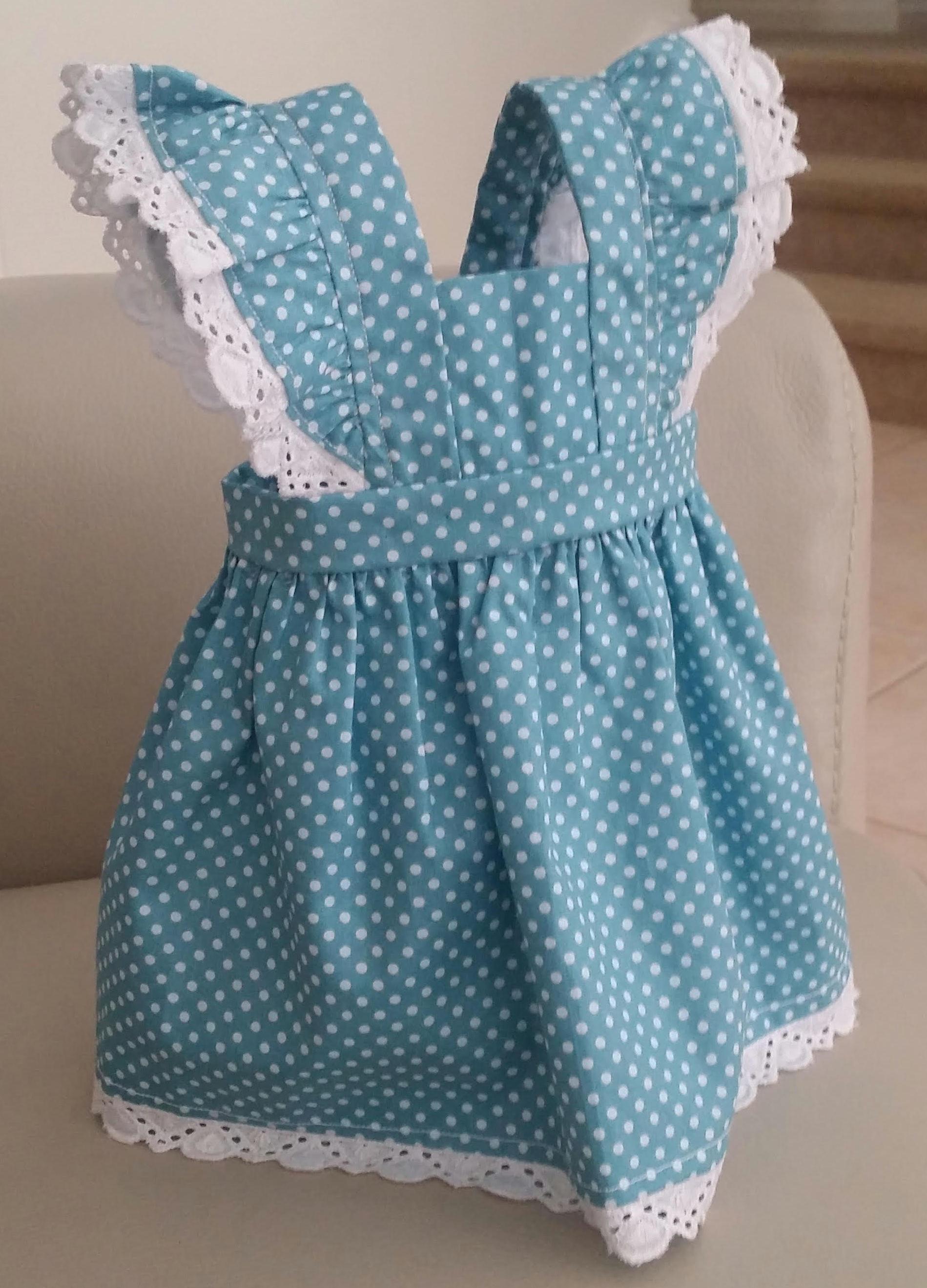 Yvonne 18 Inch American Girl pinafore dress pattern