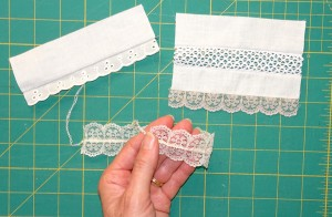 Attaching lace with your overlocker and serger