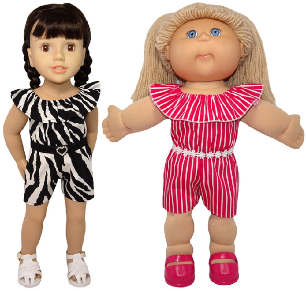 Playsuit on Cabbage Patch and Australian Girl doll