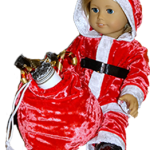 18 Inch American Girl Funky Fur Christmas Pattern