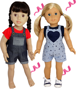 18 Inch American Girl Overall Patterns for March Madness