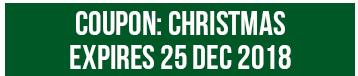 2018 Christmas Coupon Code