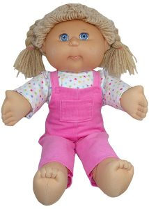 Cabbage Patch Long Overalls Doll Clothes Pattern sitting