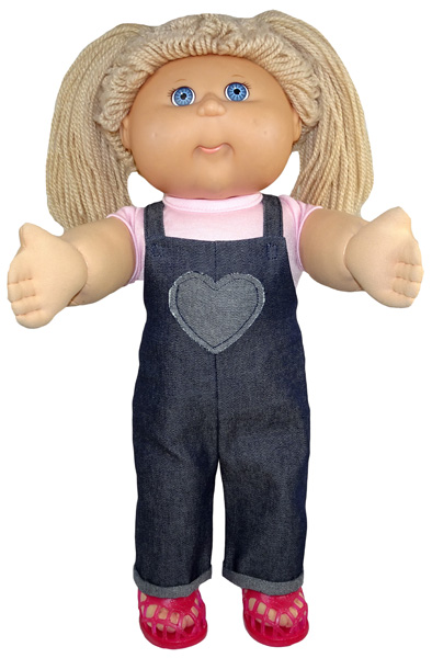 Cabbage Patch Long Overalls with cuff Doll Clothes Pattern