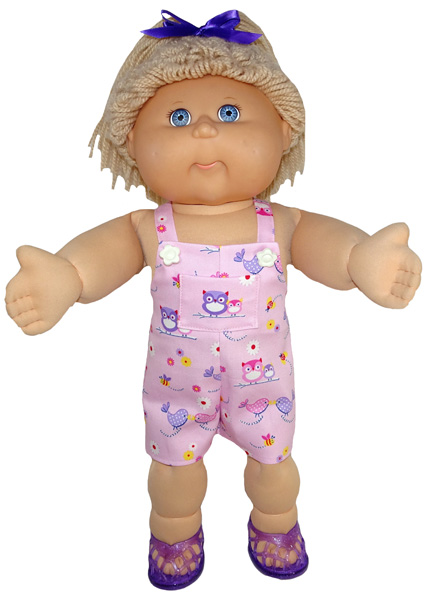Cabbage Patch Short Overalls Doll Clothes Pattern