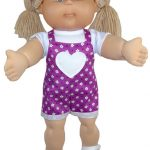 Cabbage Patch Short Overalls with cuff Doll Clothes Pattern