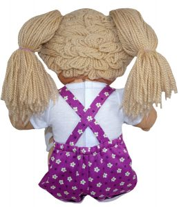 Cabbage Patch Short Overalls with cuff Doll Clothes Pattern back view