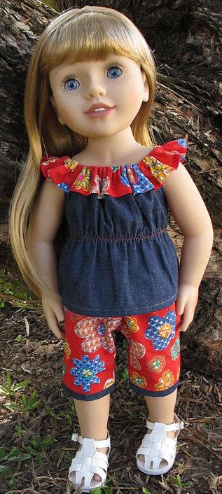 Karen Thomas fun n frilly top and capri pants patterns