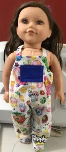 Peggy overalls doll clothes pattern