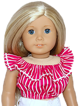 18 Inch American Girl Fun and Frilly Top Doll Clothes Pattern