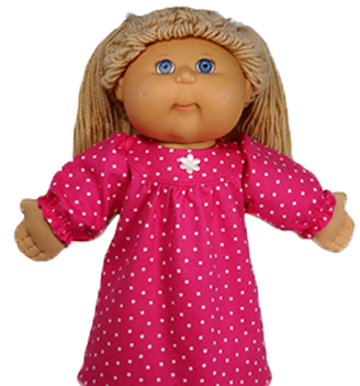 Cabbage Patch Winter Nightie doll clothes pattern