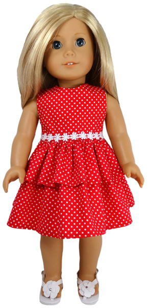 18 Inch American Girl Christmas Dress doll clothes pattern