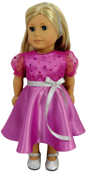18 Inch American Girl Doll Clothes Pattern 50's Vintage dress