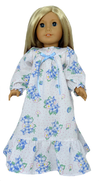 18 Inch American Girl Doll Clothes Patterns Long Winter Nightie