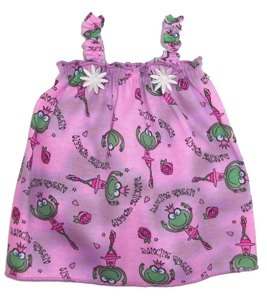 18 Inch American Girl Doll pink frog nightie pattern