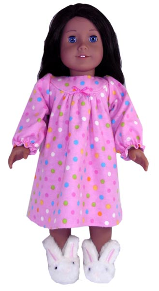 18 Inch American Girl Doll Clothes Patterns Winter Nightie