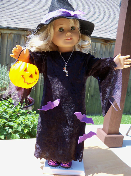 18 Inch American Girl Witches Costume and Pumpkin