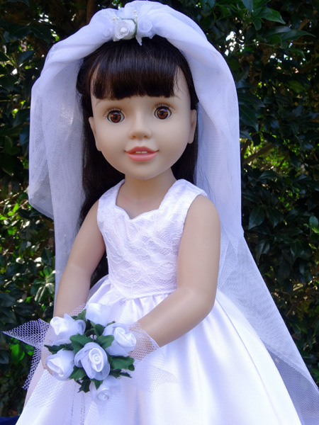 American Girl Wedding dress with Bouquet Doll Clothes Pattern
