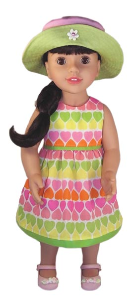 Australian Girl Candy Heart Dress doll clothes pattern