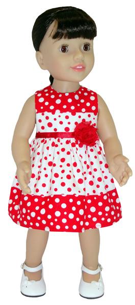 Australian Girl Christmas Dress doll clothes pattern