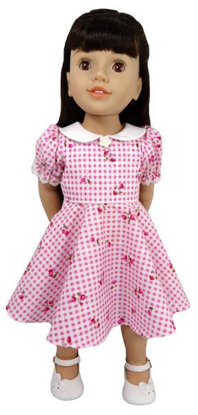 Australian Girl Doll Clothes Pattern 50's Vintage dress