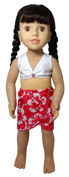 Australian Girl Doll Clothes Patterns Sarong and Bikini Top
