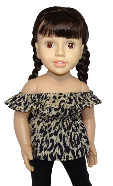 Australian Girl Fun n Frilly Top Long doll clothes pattern