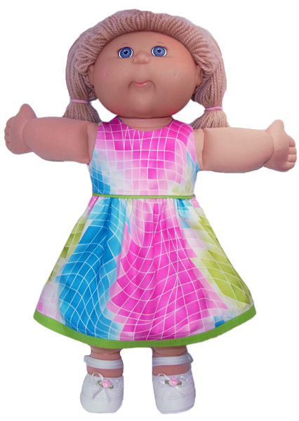 Cabbage Patch Bright Dress doll clothes pattern