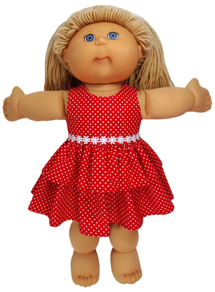 Cabbage Patch Christmas Dress doll clothes pattern