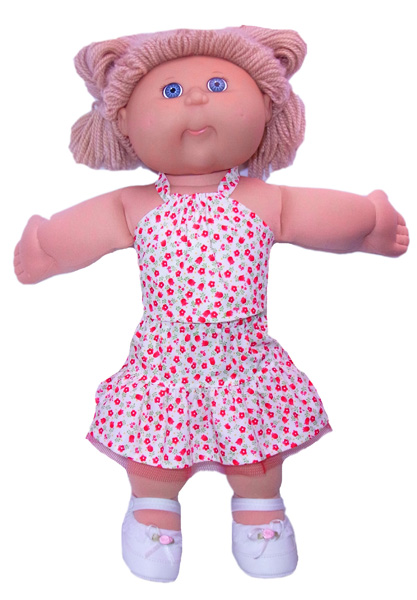 Cabbage Patch Frill Skirt doll clothes pattern