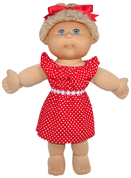 Cabbage Patch Fun n Frilly Dress Doll Clothes Pattern