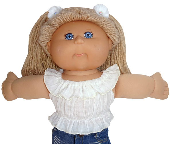 Cabbage Patch Fun n Frilly Top Medium Doll Clothes Pattern