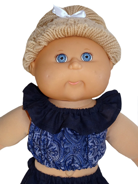 Cabbage Patch Fun n Frilly Top Short Doll Clothes Pattern
