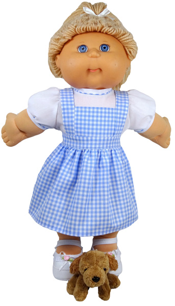 Cabbage Patch Pinafore Dress Plain doll clothes pattern