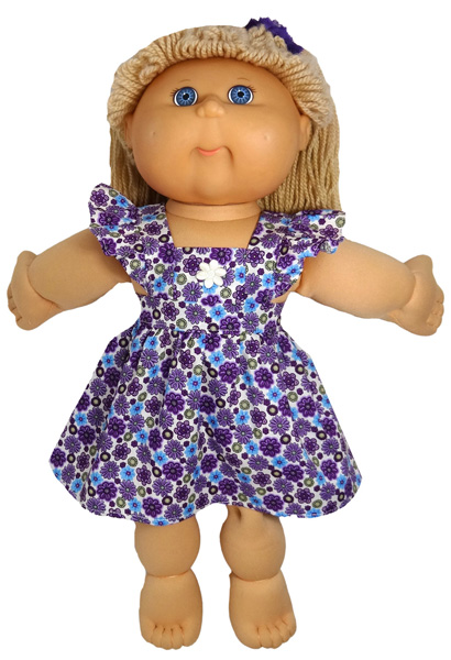 Cabbage Patch Pinafore Dress Purple doll clothes pattern