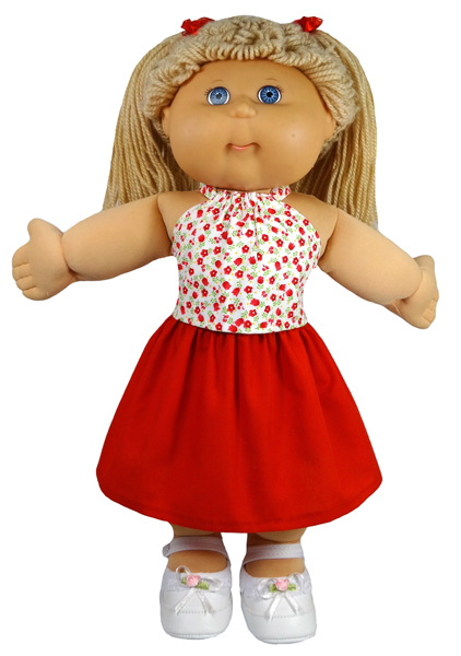 Cabbage Patch Pinafore Dress skirt doll clothes pattern