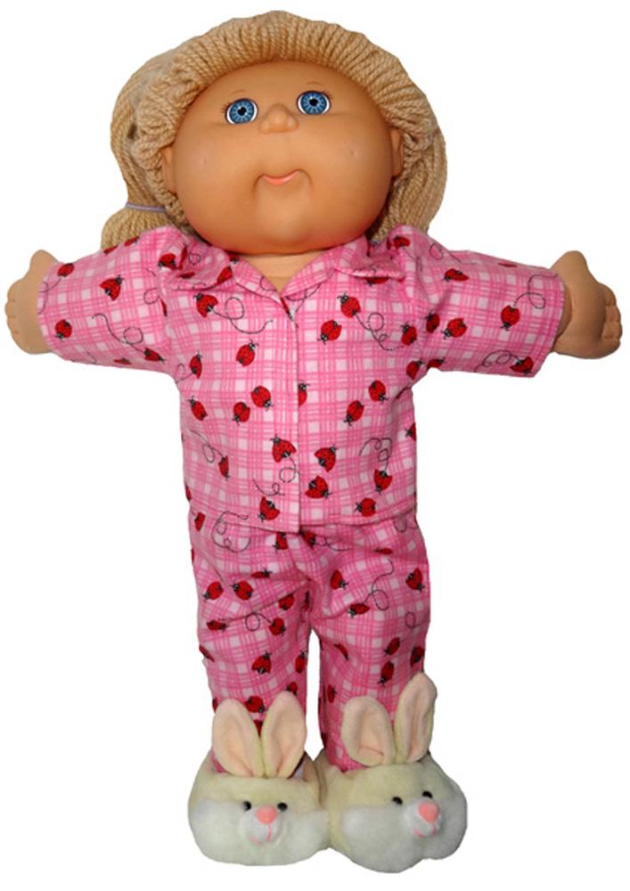 Cabbage Patch Pink Ladybug winter pyjamas doll clothes pattern