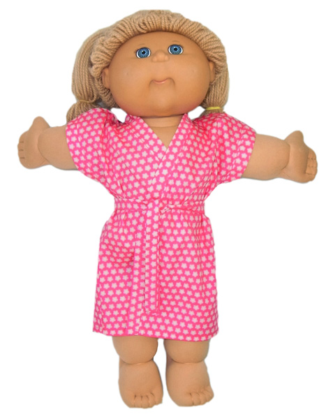 Cabbage Patch Pink Summer Dressing Gown doll clothes pattern