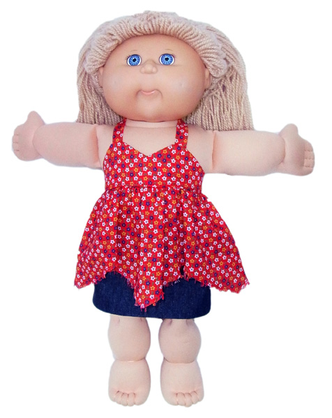 Cabbage Patch Plain Skirt doll clothes pattern