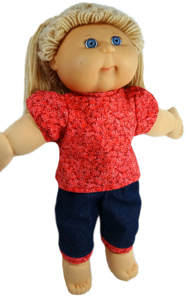 Cabbage Patch Red Blouse doll clothes pattern