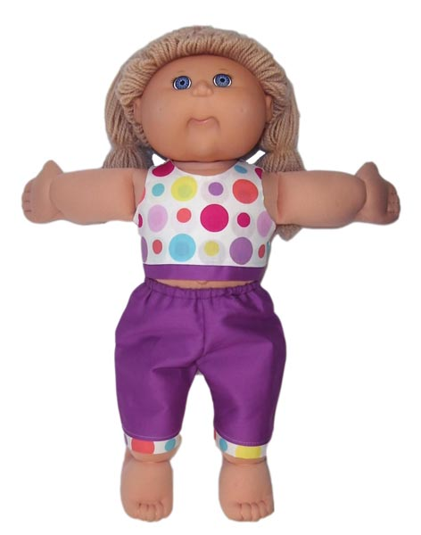 Cabbage Patch Spot Crop Top doll clothes pattern