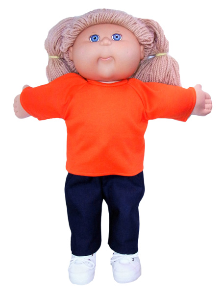 Cabbage Patch long sleeve tshirt doll clothes pattern