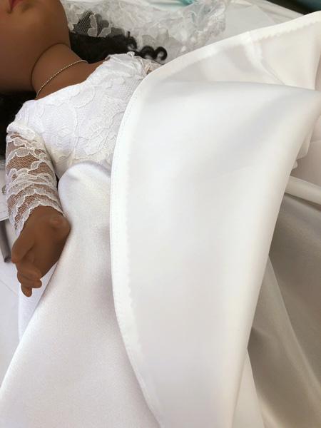 Julie Robertson doll clothes pattern wedding dress skirt lining