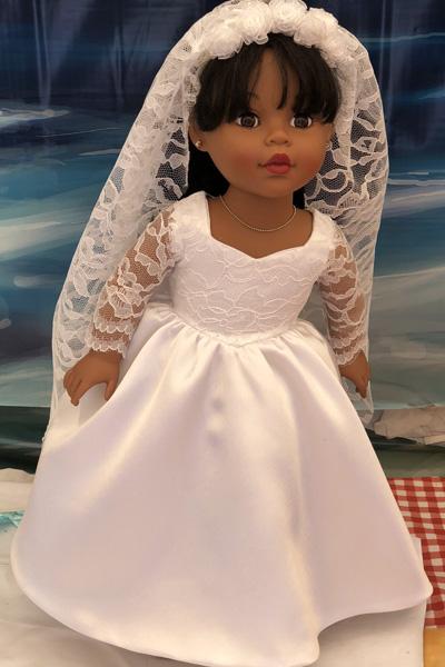 Julie Robertson doll clothes pattern wedding dress