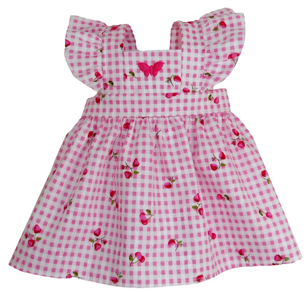 Pinafore dress doll clothes pattern