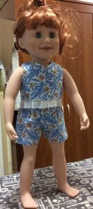 Rosemary Gillanders crop top and shorts pattern